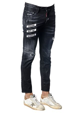 JEANS SKATER IN DENIM STRETCH NERO PE 2018 DSQUARED2 | 4 | S74LB0336S30357900