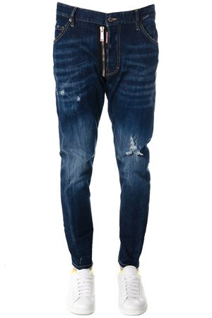 JEANS CLASSIC KENNY IN DENIM DI COTONE BLU PE 2018 DSQUARED2 | 8 | S74LB0354S30342470
