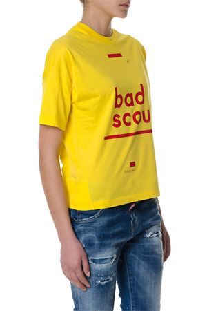 T-shirt gialla Bad Scout in cotone PE2018 DSQUARED2 | 15 | S75GC0920S22427174