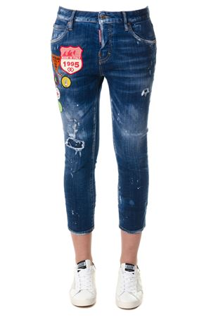 JEANS DENIM SLIM FIT CON STEMMA PE2018 DSQUARED2 | 4 | S75LA0988S30342470