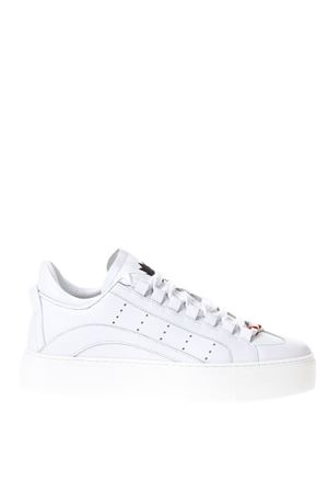 WHITE CUT OUT SNEAKERS IN LEATHER SS 2018 DSQUARED2 | 55 | SNM0003065000011062