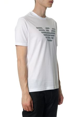WHITE COTTON T-SHIRT WITH LOGO SS 2018 EMPORIO ARMANI | 15 | 3Z1T881J00Z0100