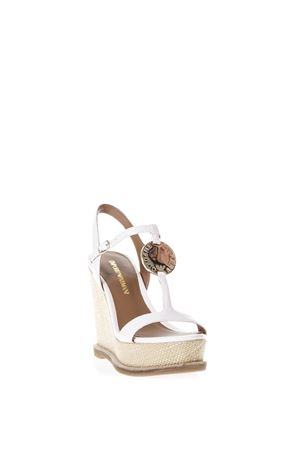 WHITE SANDALS IN FAUX LEATHER SS 2018 EMPORIO ARMANI | 87 | X3U067XD1380001