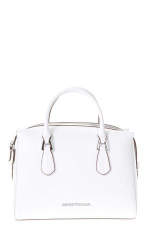 WILMA WHITE FAUX LEATHER HAND BAG SS 2018 EMPORIO ARMANI   2   Y3A085YH19E80012