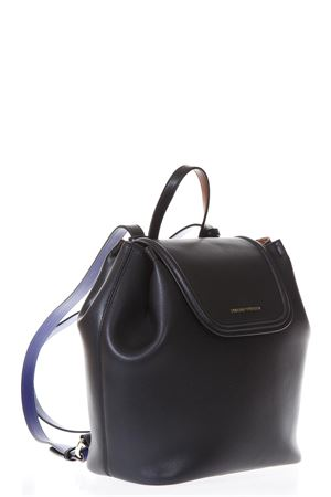 WILMA BLACK LEATHER BACKPACK SS 2018 EMPORIO ARMANI | 183 | Y3L016YH24A82274