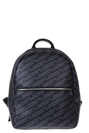GREY ALL OVER BRANDED BACKPACK IN  ECO LEATHER SS 2018 EMPORIO ARMANI | 183 | Y4O165YLO7E86526