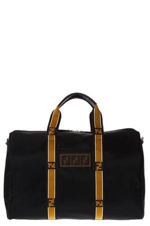 BLACK NYLON DUFFLE BAG WITH LOGO SS 2018 FENDI | 2 | 7VA430A1R4F0GXN
