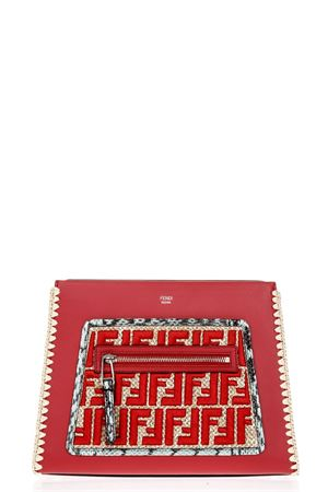 RUNAWAY RED LEATHER BAG WITH FF LOGO SS 2018 FENDI | 2 | 8BH344A2FUF12RS