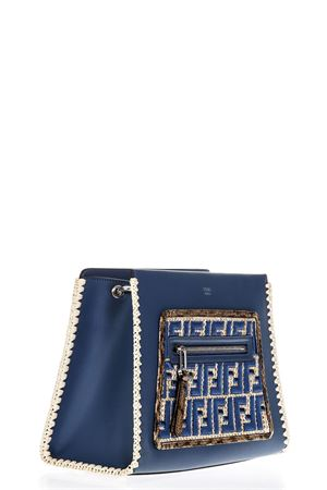 RUNAWAY BLUE LEATHER BAG WITH FF LOGO SS 2018 FENDI | 2 | 8H344A2FUF12RR
