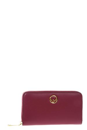 RED WALLET IN LEATHER WITH LOGO SS 2018 FENDI | 34 | 8M0299A0KKF0J3V