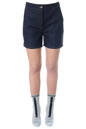 SHORT IN DENIM DI COTONE BLU pe 2018 FENDI | 110000034 | FLP681A0MRF0QA2