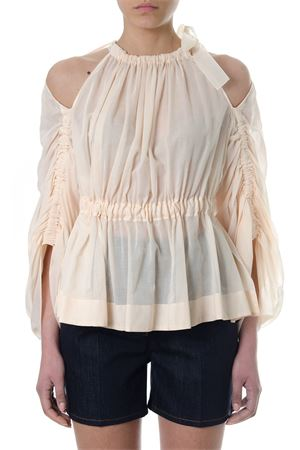 CREAM COTTON-SILK FLARED BLOUSE SS 2018 FENDI | 13 | FS6994A1THF12CE