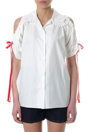 WHITE COTTON CUT-OUT SHIRT SS 2018 FENDI | 9 | FS6996A0MYF0ZNM