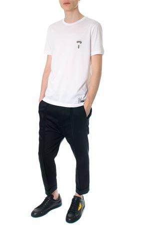 T-shirt bianca Karlito in cotone PE2018 FENDI | 15 | FY0894A2HKF0QA0
