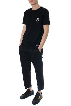 T-shirt nera Karlito in cotone PE 2018 FENDI   15   FY0894A2HKF0QA1