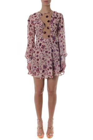 AGNES ROSE COLOR DRESS WITH FLORAL PRINT SS 2018 FOR LOVE & LEMONS | 32 | CD1642CAGNES SOFT ROSE