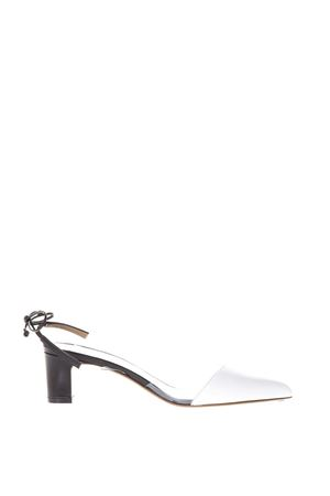 White low court shoes in leather SS2018 FRANCESCO RUSSO | 68 | R1P355N239WHITE/BLACK