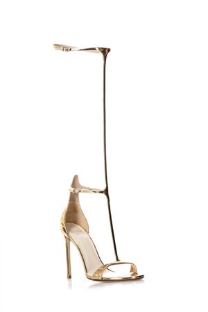 Gold tall Hill sandals in leather SS2018 FRANCESCO RUSSO | 87 | R1S250N213PINK GOLD