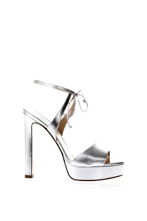 Silver snake effect sandals SS2018 FRANCESCO RUSSO | 87 | R1S357N207SILVER