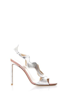 Silver waves sandals in leather SS2018 FRANCESCO RUSSO | 87 | R1S366N207SILVER
