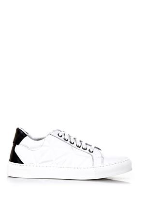 3D EFFECT WHITE LEATHER SNEAKERS SS 2018 FRANKIE MORELLO | 55 | AAMS8051SNUNIW02