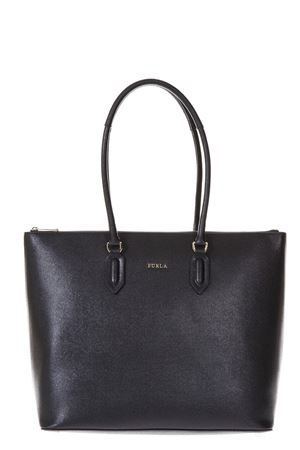 BLACK LEATHER SHOPPING BAG WITH LOGO SS 2018 FURLA | 2 | 942282PINONYX