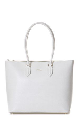 IVORY LEATHER SHOPPING BAG WITH LOGO SS 2018 FURLA | 2 | 942283PINPETALO