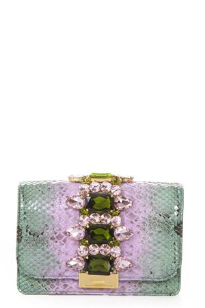 CLIKY EMBELLISHED GREEN PYTHON CLUTCH SS 2018 GEDEBE | 2 | CLIKYPYTHONLILLA MINT SHADOW