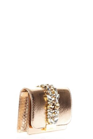 CLIKY EMBELLISHED ROSEGOLD PYTHON CLUTCH SS 2018 GEDEBE | 2 | CLIKYSNAKEROSE GOLD