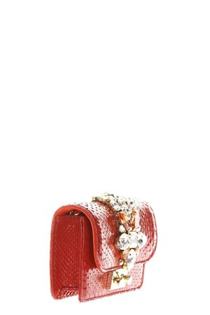 CLIKY EMBELLISHED RED PYTHON CLUTCH SS 2018 GEDEBE | 2 | MINI CLIKYPYTHONSTAWBERRY