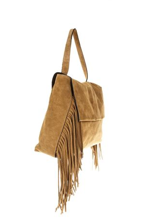 CAMEL SUEDE FRINGED BAG SS 2018 GIANNI CHIARINI | 2 | BS5793*18PE1206