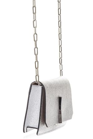 SILVER LAMINATED LEATHER SHOULDER BAG SS 2018 GIANNI CHIARINI | 2 | BS6214BRSB10406