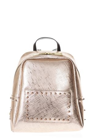 ROSEGOLD RUBBER BACKPACK WITH STUDS ss 2018 GIANNI CHIARINI | 2 | ZN1753COLORSTUD8509
