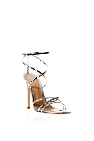 METARGE SILVER SANDALS IN LEATHER SS 2018 GIANVITO ROSSI | 87 | G31225METARGESILVER