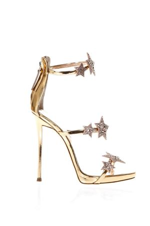 HARMONY STAR GOLD METALLIC LEATHER SANDALS SS 2018 GIUSEPPE ZANOTTI | 87 | E800039SHORAM 002