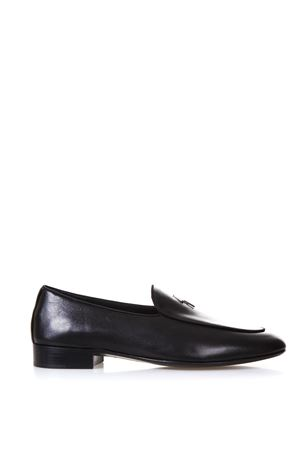 BLACK NAPPA LEATHER LOAFERS WITH LOGO SS 2018 GIUSEPPE ZANOTTI | 130 | EU80044NAPPA003