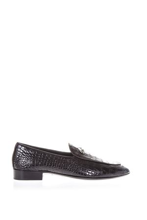 BLACK ARCHIBAL CLASSIC LOAFERS IN COCCO LEATHER SS 2018 GIUSEPPE ZANOTTI | 130 | IU70049ZANZAROUN002
