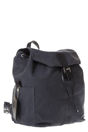 GRAY COTTON CANVAS BACKPACK SS 2018 GOLDEN GOOSE DELUXE BRAND | 183 | G32MA7531A2