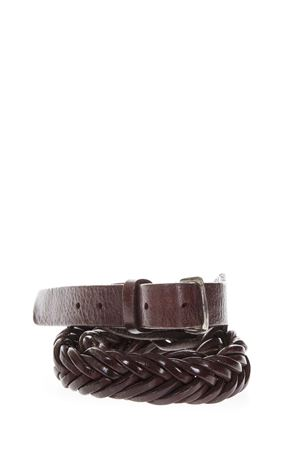 BLACK BRAIDED BELT IN LEATHER SS 2018 GOLDEN GOOSE DELUXE BRAND | 12 | G32MA8431A2