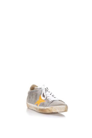 GREY AND ORANGE SUEDE SUPERSTAR SNEAKERS SS18 GOLDEN GOOSE DELUXE BRAND | 55 | G32MS5901F10