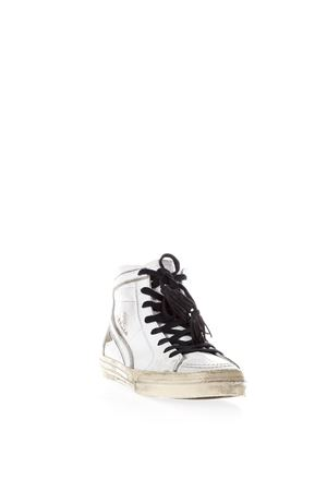 SUPERSTAR WHITE AGED LEATHER HIGH-TOP SNEAKERS SS 2018 GOLDEN GOOSE DELUXE BRAND | 55 | G32MS5951TEX
