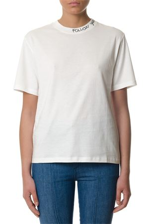 WHITE SAMIA COTTON T-SHIRT SS 2018 GOLDEN GOOSE DELUXE BRAND | 16 | G32WP1201A2