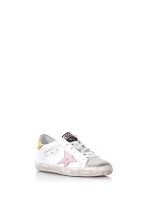 SNEAKERS SUPER STAR IN PELLE BIANCA E ROSA 20MM PE 2018 GOLDEN GOOSE DELUXE BRAND | 55 | G32WS5901E76