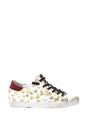 WHITE SNEAKERS WITH GOLD HEARTS ALL OVER PRINT SS 2018 GOLDEN GOOSE DELUXE BRAND | 55 | G32WS5901G57