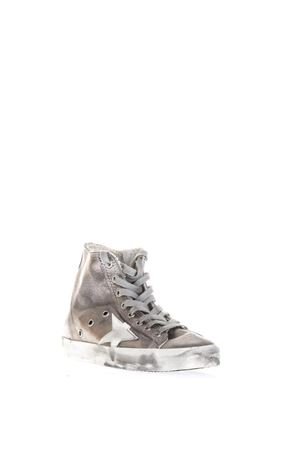 METALLIC LEATHER HIGH-TOP SNEAKERS SS  2018 GOLDEN GOOSE DELUXE BRAND | 55 | G32WS5911B15