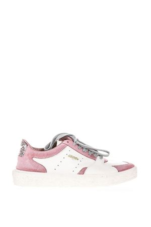TENTH STAR WHITE & PINK LEATHER SNEAKERS SS 2018 GOLDEN GOOSE DELUXE BRAND | 55 | G32WS7151B8