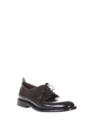 DERBY BLACK CLASSIC LEATHER SHOES SS 2018 GREEN GEORGE | 208 | 3029OREGONNERO