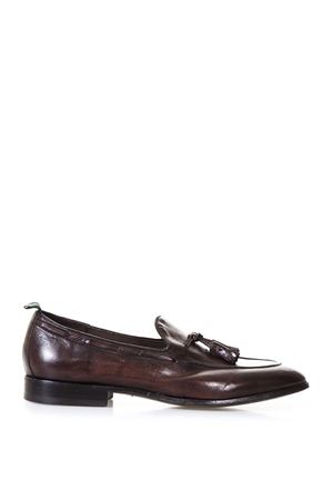 DARK BROWN LEATHER LOAFERS WITH TASSELS SS 2018 GREEN GEORGE | 130 | 5095MAREMMA432