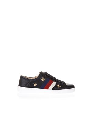 BLACK ACE SNEAKERS WITH EMBROIDERED STARS & INSECTSSS 2018 GUCCI | 55 | 497125AXWQ01077