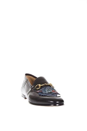 BLACK LEATHER WOLF LOAFERS SS 2018 GUCCI | 130 | 501020DLC001000